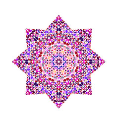 Abstract isolated floral mosaic ornament star vector