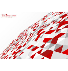 Abstract red technology triangle design vector
