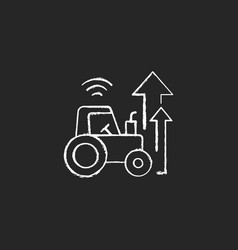 Agricultural modernization chalk white icon vector