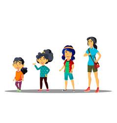 Asiatic generation female set mother vector