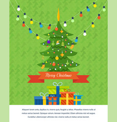 atmosphere of the new year merry christmas vector image