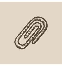 Attach symbol sketch icon vector