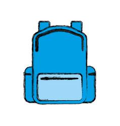 Backpack school bag vector