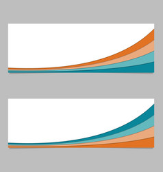 Banner template from layer stripes - graphic vector