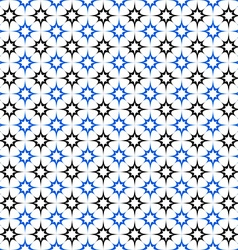 Black blue seamless star pattern wallpaper vector