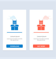 Box gift success climb blue and red download and vector