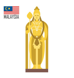 buddha golden statue in malaysia kuala lumpur vector image
