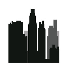 Buildings silhouette urban landscape american vector