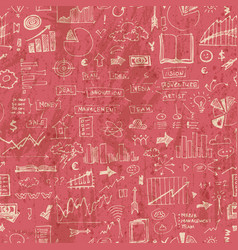 business doodles seamless pattern success vector image