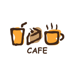 Cafe bakery element logo vector