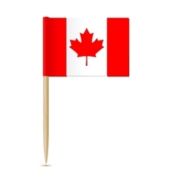 Canada flag toothpick vector image