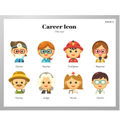 Career icon flat pack vector