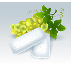 Chewing gum with grape flavor vector