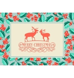 Christmas holiday card vector