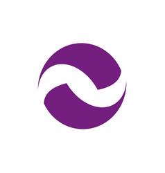 Circle logo around blade concept earth logo vector
