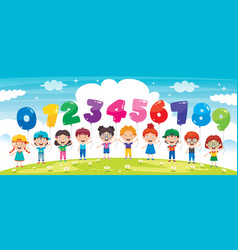 colorful number balloons vector image