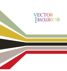 Colorful stripes with 3 d dimensional effect vector image