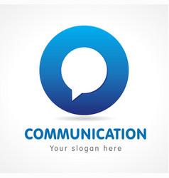 communication o logo vector image