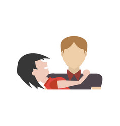 Couple romantic cute relationship vector