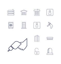 Door icons vector