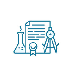 Education document icon patent for invention vector