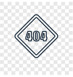 error 404 concept linear icon isolated on vector image