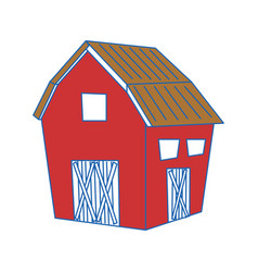 Farm barn building vector