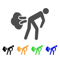 Fart gases flat icon vector