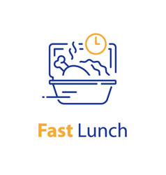 Fast lunch ready food to eat take away order vector