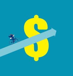 financial growth finance and economy concept vector image
