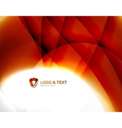 Fire orange abstract swirl template vector