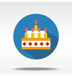 flat icons of cake vector image