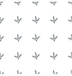 Footprint icobirdn icon pattern seamless white vector