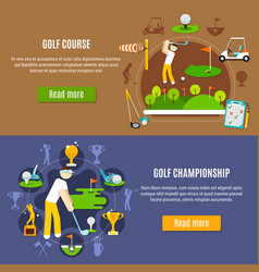 golf championship and course banners vector image