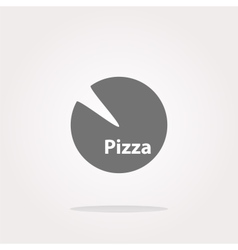 Icon Pizza in flat style isolated on white vector image