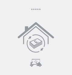 investment property - real estate - web icon vector image