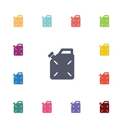 Jerrycan flat icons set vector