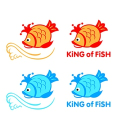 King of fish symbol vector