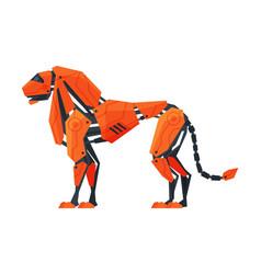 Lion wild animal robot artificial intelligence vector