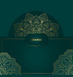 mandala with floral ornament pattern mandala vector image