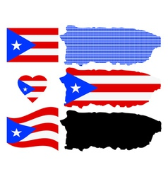 Map of Puerto Rico vector image