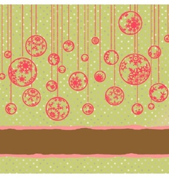 Merry christmas vintage card EPS 8 vector