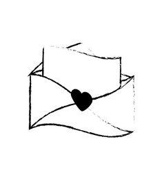 message letter love romace sketch vector image