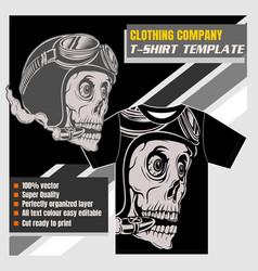 mock up clothing company t-shirt template skull vector image