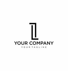 Monogram i logo vector