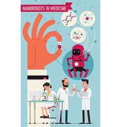 Nanorobots in Robots vector