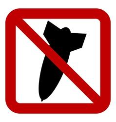 No bomb sign vector