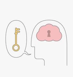 Open mind vector