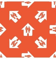 Orange family house pattern vector image