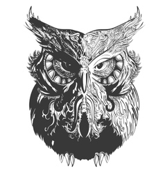 Owl Shadowesd Black vector image